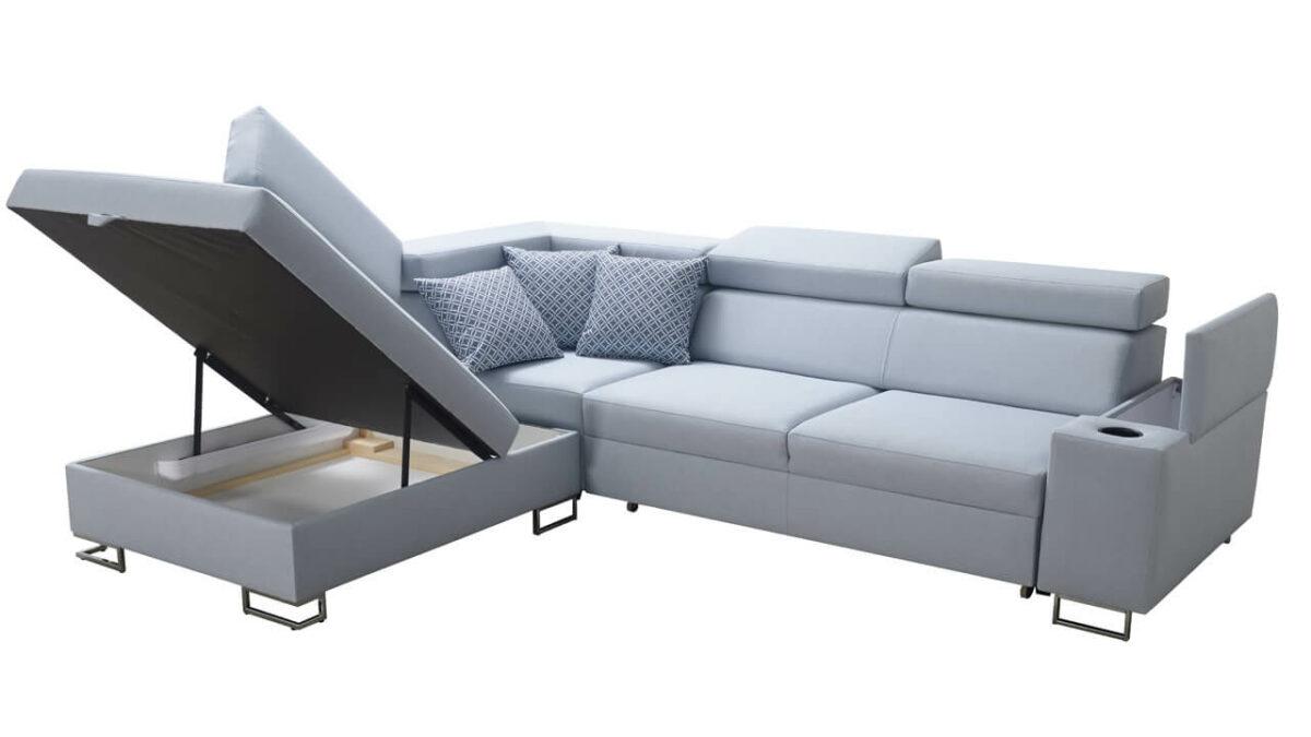 Rohová sedačka SOLVADO VII úložný priestor