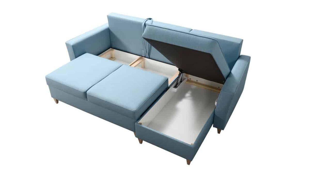 sedacia súprava s vyvýšenými nožičkami TORST úložný priestor