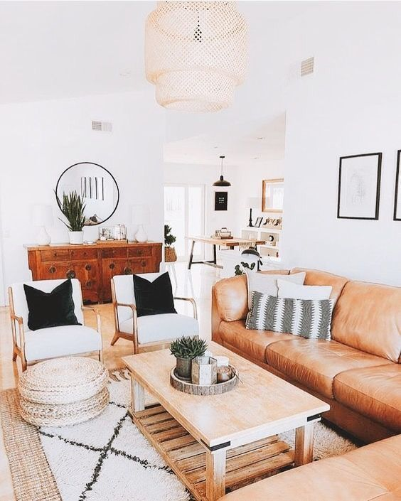 obývačka škandinávsky štýl