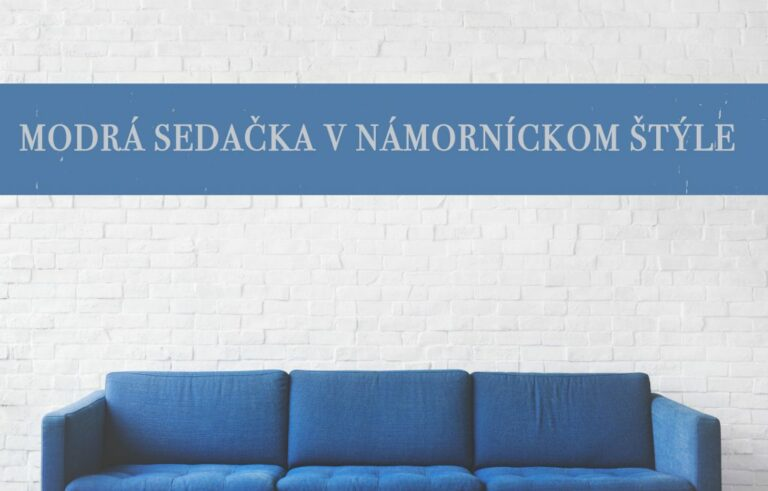 modrá sedačka