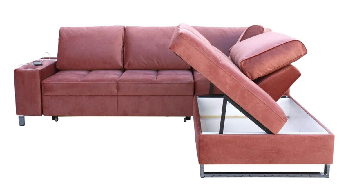 Rohová sedačka HERMOS VII Úložný priestor