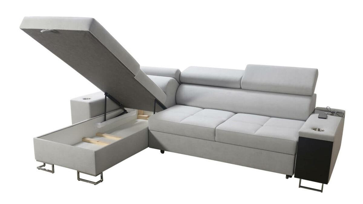 Rohová sedačka MURENA I MAXI Úložný priestor