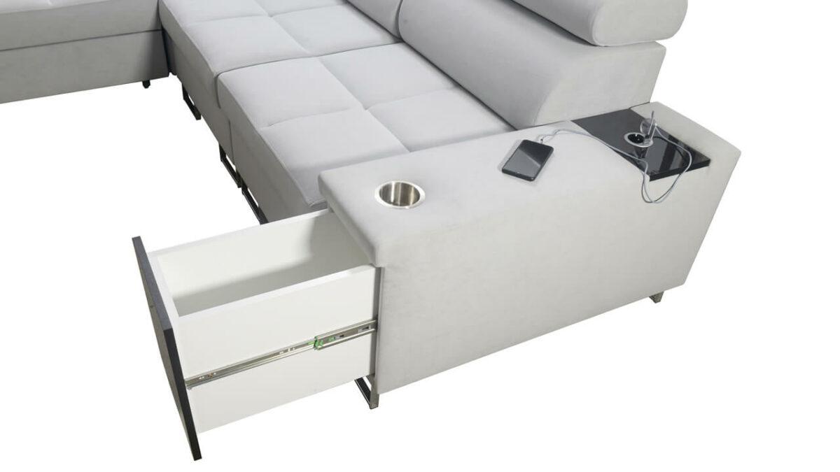 Rohová sedačka MURENA III Minibar