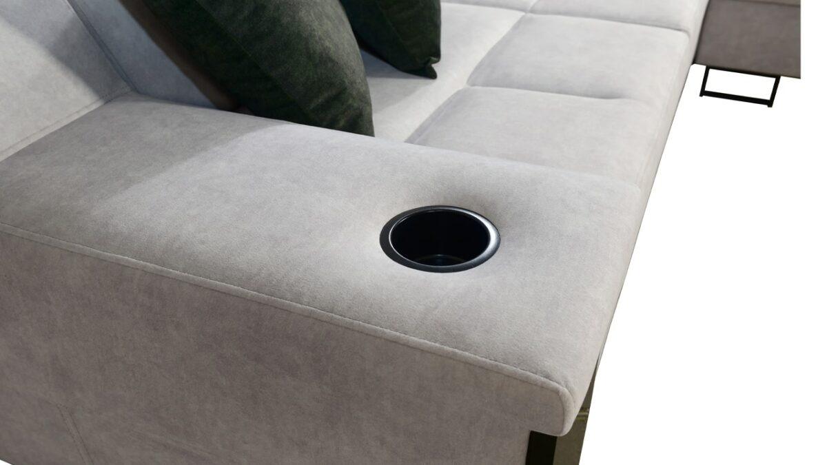 Rohová sedačka Alicanto II držiaky na poháre