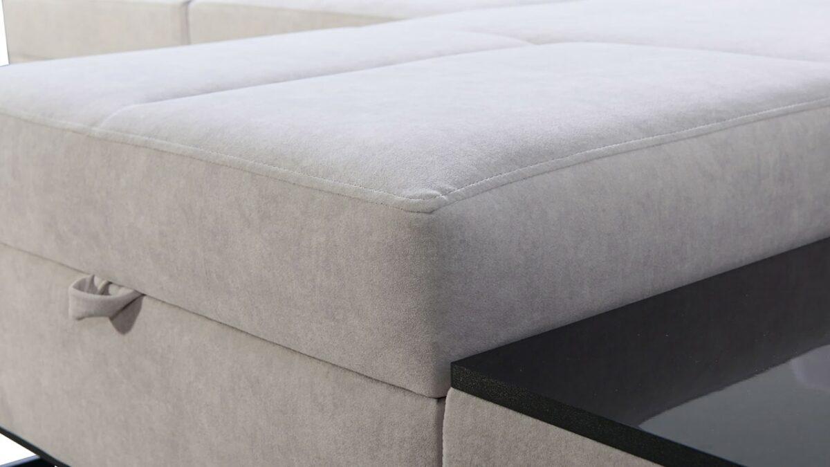 Rohová sedačka Alicanto I mini detail poťah