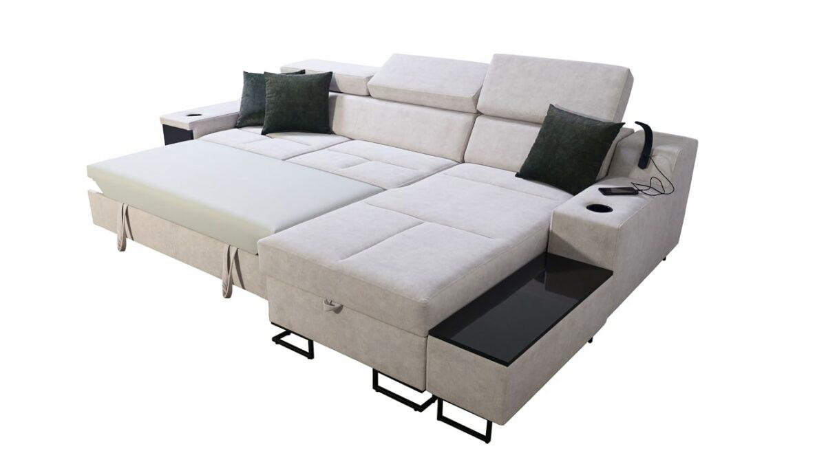 Rohová sedačka Alicanto I mini rozkladanie