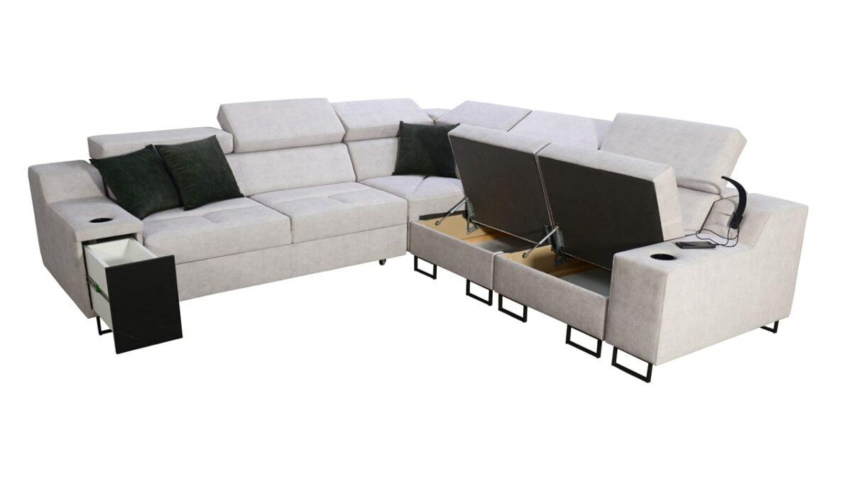 Rohová sedačka Alicanto III úložný priestor