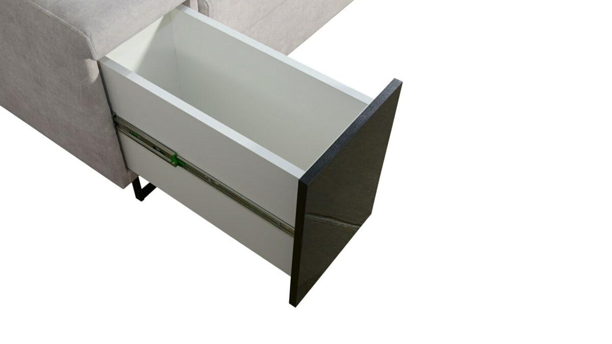Sedačka v tvare U Alicanto IV maxi minibar