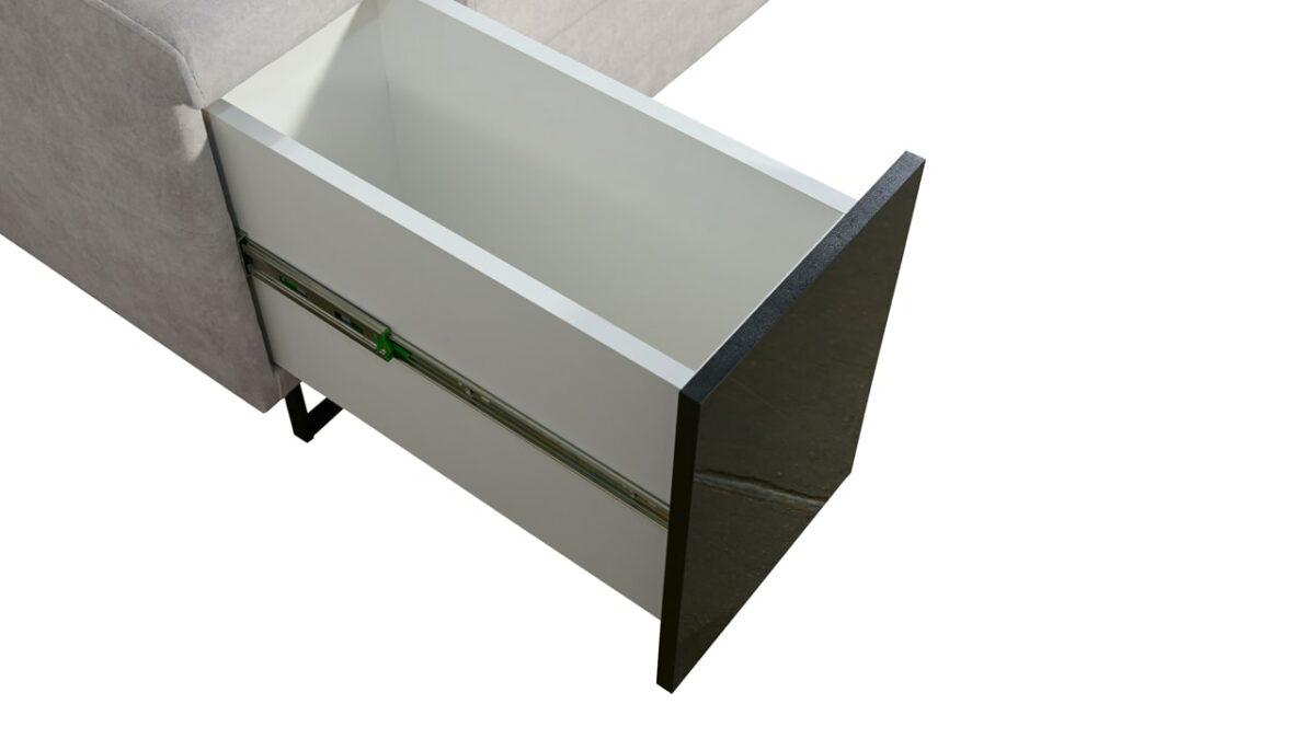 Sedačka v tvare U Alicanto IV mini minibar