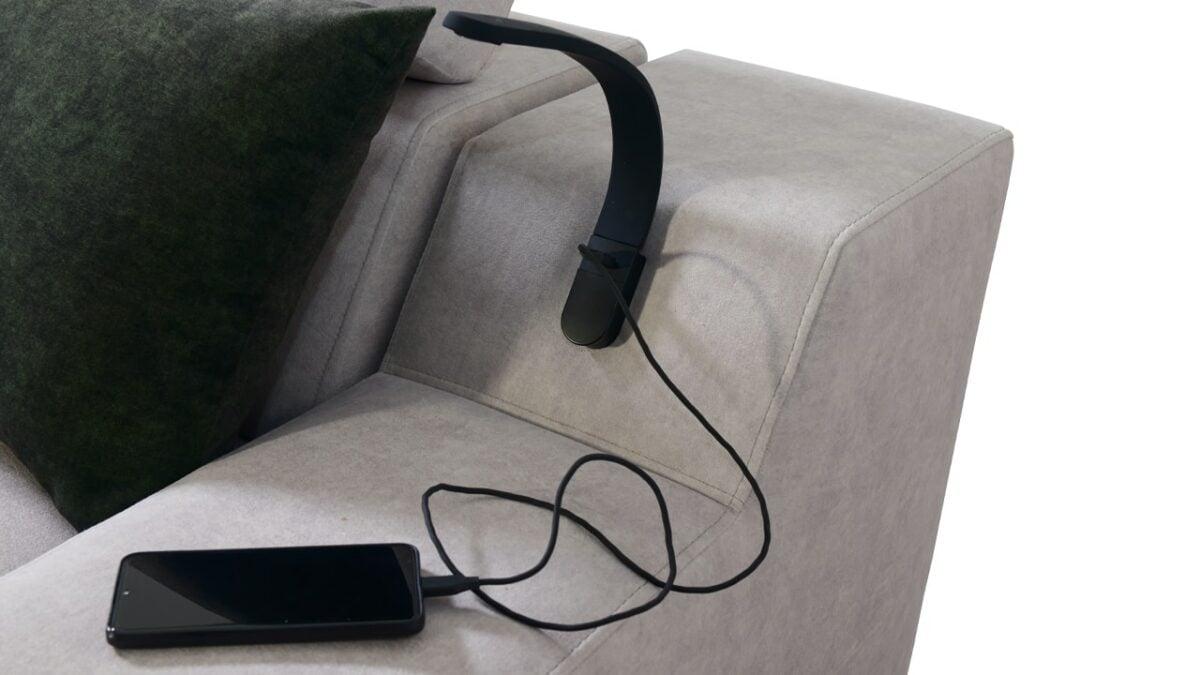 Sedačka v tvare U Alicanto V detail lampa