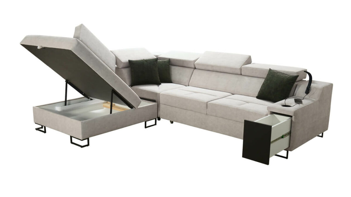 Rohová sedačka Alicanto VII Úložný priestor
