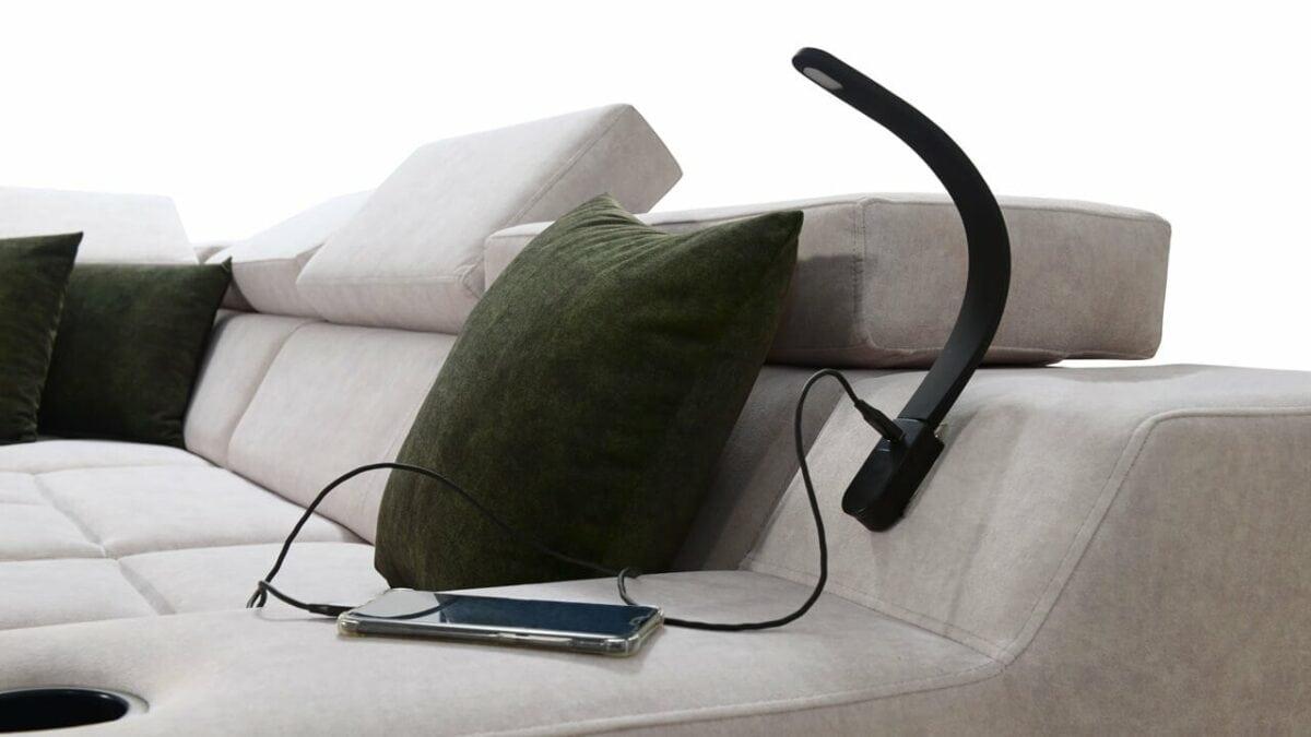 Rohová sedačka Alicanto IX Lampa2
