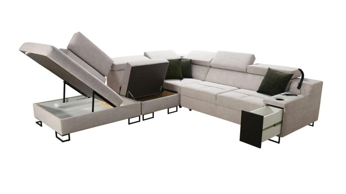 Rohová sedačka Alicanto IX Úložný priestor